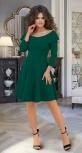 Красивое зелёное платье № 3607