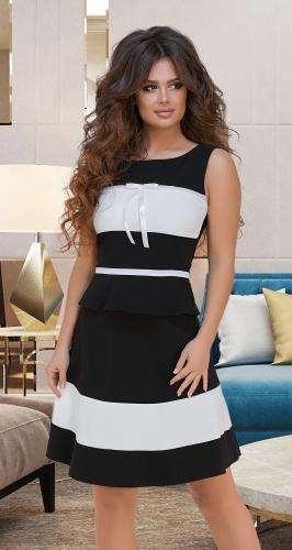 Контрастный чёрно-белый костюм № 3393