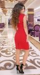 Красивое красное платье № 3919