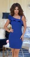 Красивое синее платье № 3396