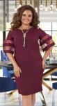 Платье с красивыми рукавчиками № 396431, бордовый