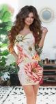 Яркое платье с красивой спинкой №  1200