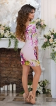 Короткое пудровое платье № 3293