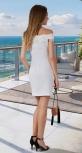 Нарядное платье с дорогим кружевом № 34033 , белое