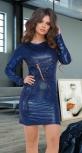 Модное клубное платье № 109,синее