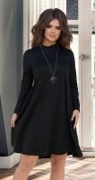 Расклешённое чёрное платье № 1678