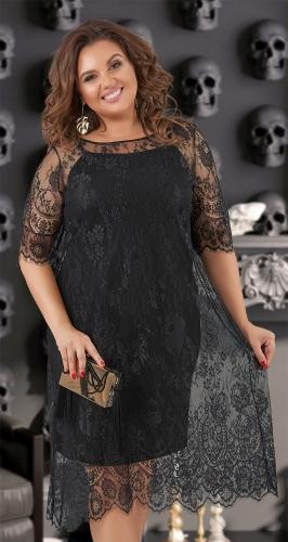 Гипюровое платье с асимметричным низом № 40761