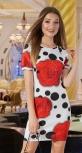 Красивое платье с розами № 1278