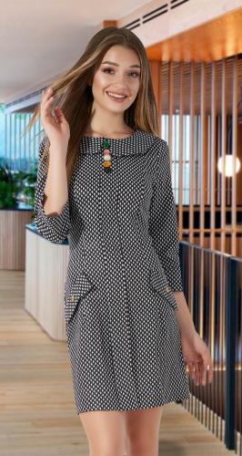 Платье в мелкий узор № 1095
