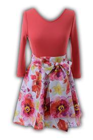 Платье № 1238 цветы