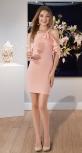 Нарядное короткое платье № 3355 , персиковое