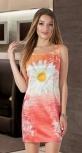 Яркое летнее платье № 820 , коралловое