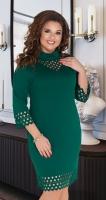 Модное зелёное платье № 35091