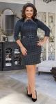 Стильное короткое платье в клетку № 34651