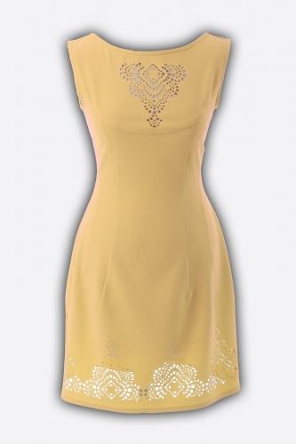 Платье № 1263nN желтое (розница 515 грн.)