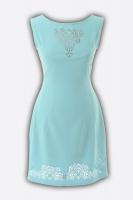 Платье № 1263n лагуна