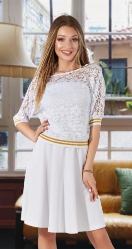 Модный костюм № 3707, белый