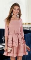 Нарядное пудровое платье № 3312