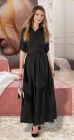 Длинное платье-рубашка № 3130 , чёрное