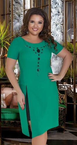 Восхитительное платье № 16581,цвета свежей листвы