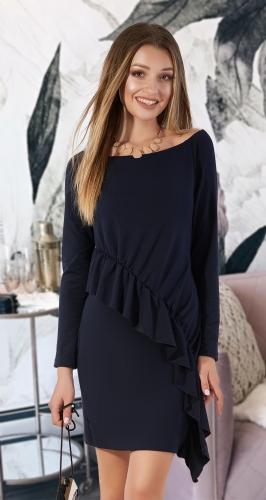 Стильное платье из двухнитки № 4028