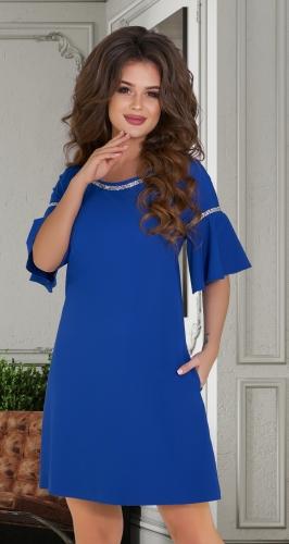 Короткое расклешенное платье № 1790