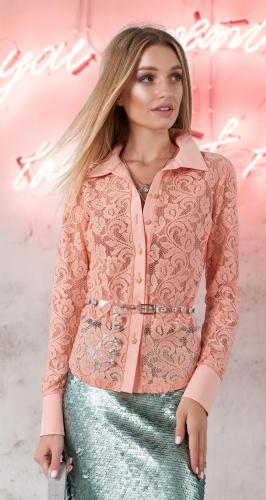 Гипюровая блузка № 3592