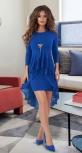 Красивое платье со шлейфом № 30673,ярко синее