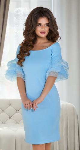 """Платье- """"Зефирка"""" № 3965,небесно-голубое"""