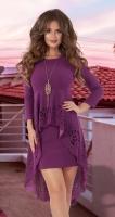 Красивое платье со шлейфом № 30673,фуксия