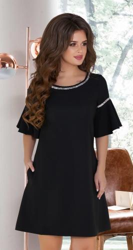 Нарядное черное платье № 1790