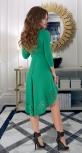 Красивое платье со шлейфом № 30673,зелёное