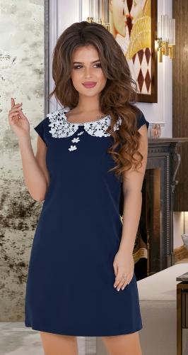 Молодёжное платье №3417,синее