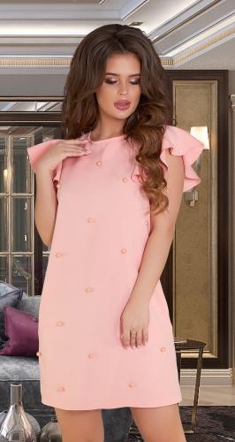 Свободное платье с жемчужинами № 36653