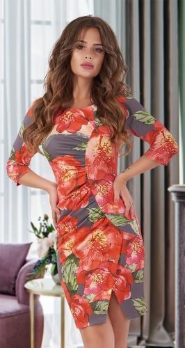 Платье с драпировкой № 1167