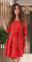 Нарядное красное платье № 3312