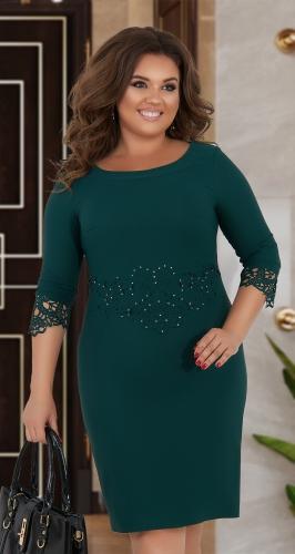 Красивое платье с кристаллами № 34501