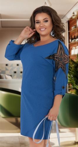 Свободное платье с красивыми рукавами № 34691
