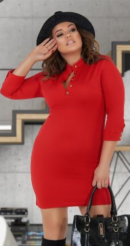 Стильное красное платье № 32751