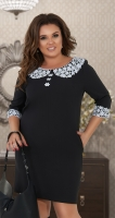 Свободное платье № 34181,чёрное