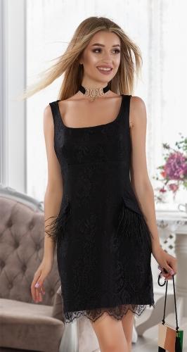 Роскошное нарядное платье № 4017 ,чёрное
