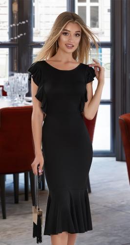Платье с открытой спинкой № 3989