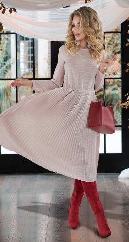 Мерцающее плиссированное платье № 4126