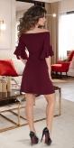 Красивое короткое платье № 37883,бордо