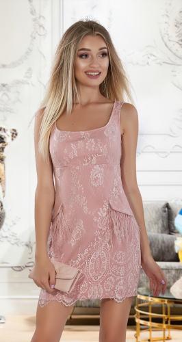Роскошное нарядное платье № 4017 , оттенка пудры