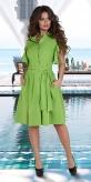 Лёгкое платье-рубашка № 3978,салатовое