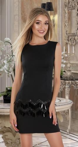 Стильное платье чёрное № 4044
