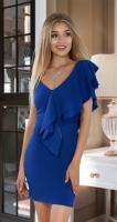 Вечернее платье № 3643 ,ярко синее