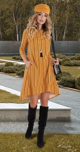 Свободное платье в полоску № 38023