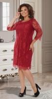 """Нарядное платье из """"Французского"""" гипюра № 39941,бордовое"""